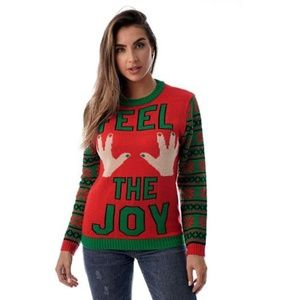 #followme Womens Ugly Christmas Sweater